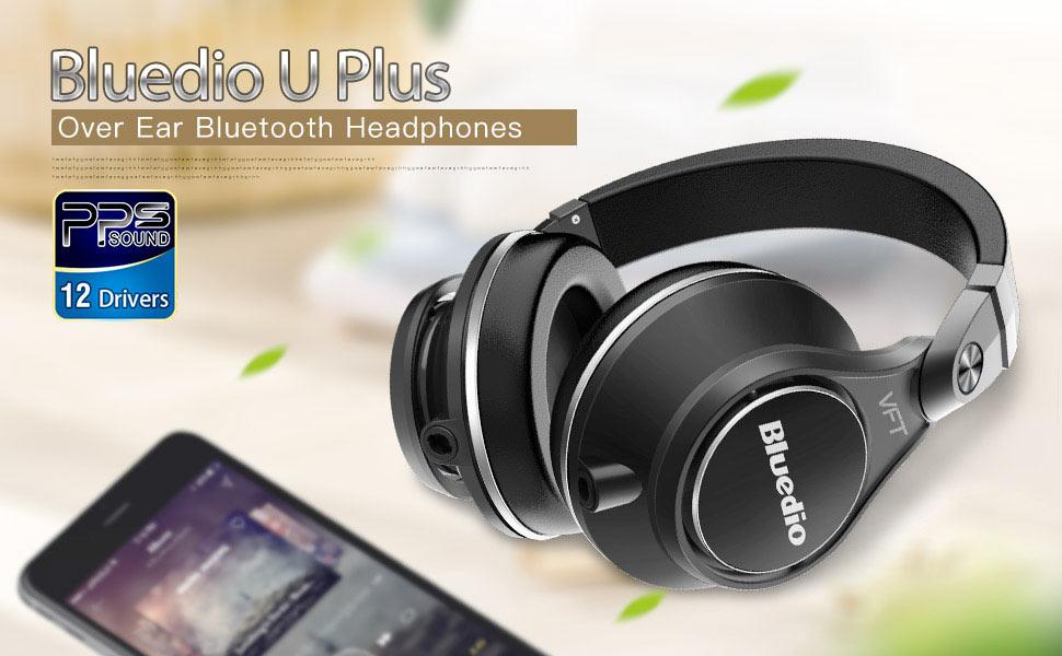 Bluedio U Plus (UFO) Pro Extra Bass Wireless Bluetooth headphones Patented  PPS12 Drivers Over-Ear DJ Headphones 526455b515