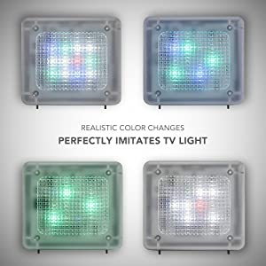 Avantek fake tv simulator home security tv burglar deterrent mimic the patterns are both random but also intelligent enough that the lighting emitted lights up a room just like a tv wouldis avantek tv simulator acts as a aloadofball Gallery