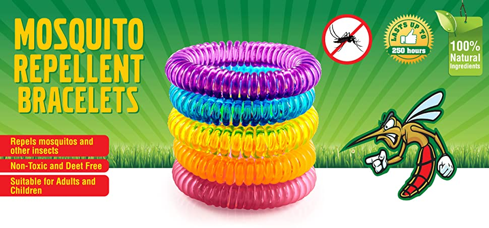 The Body Source Mosquito Repellent Bracelets 10 Pack Deet