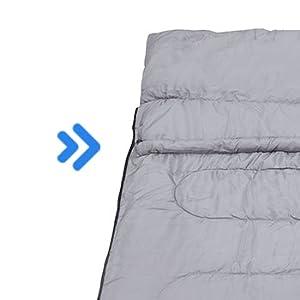 Warm... Mounchain Double Sleeping Bag Queen Size XL can into 2 Singles