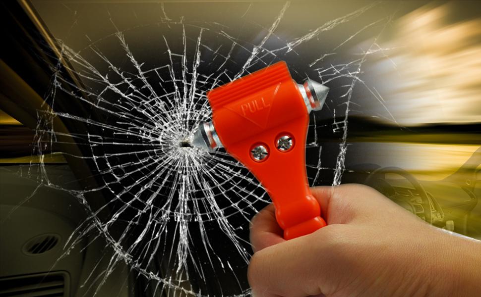 2 Pack Ipow Car Emergency Escape Window Break Hammer