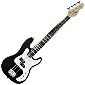 3 4 la bass guitar 15w amp pack black musical instruments. Black Bedroom Furniture Sets. Home Design Ideas