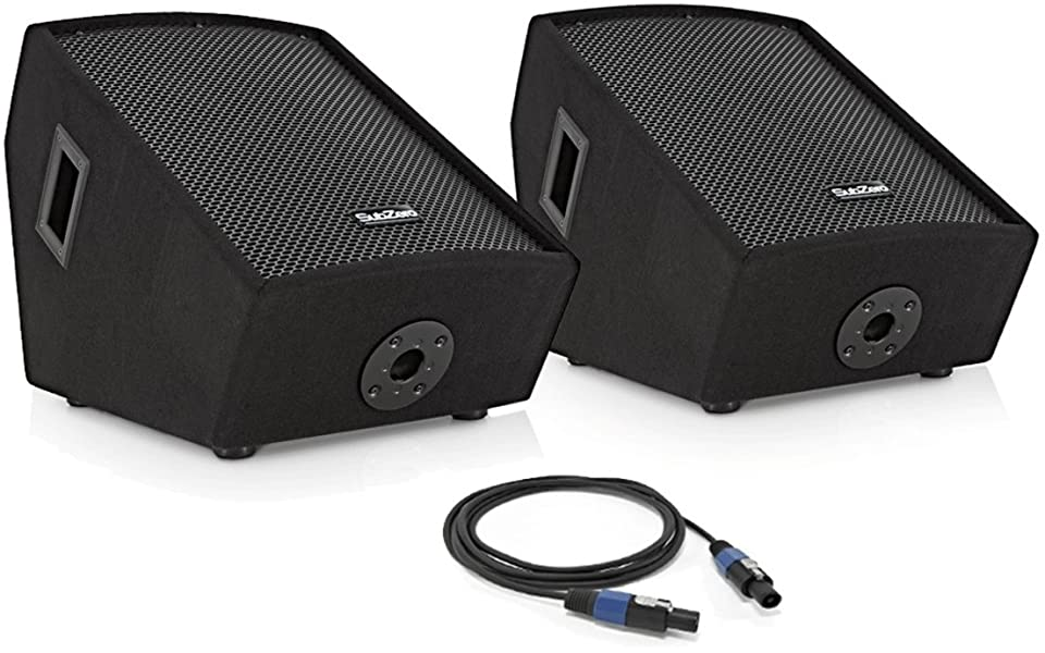 The Subzero 12 Inch Floor Monitor Twin Pack Is An Ideal Stage Set Up For  The Performing Musician. Featuring One Active And One Passive Floor Monitor,  ...