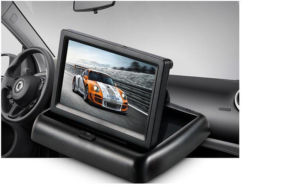 podofo u00ae 4 3 u0026quot  foldable wireless car tft lcd mirror monitor
