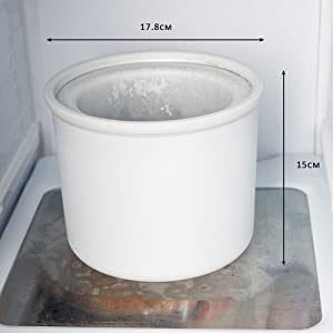 Andrew James Compact Countertop Ice Maker : compact bowl the compact bowl can be stored in the freezer the bowl ...