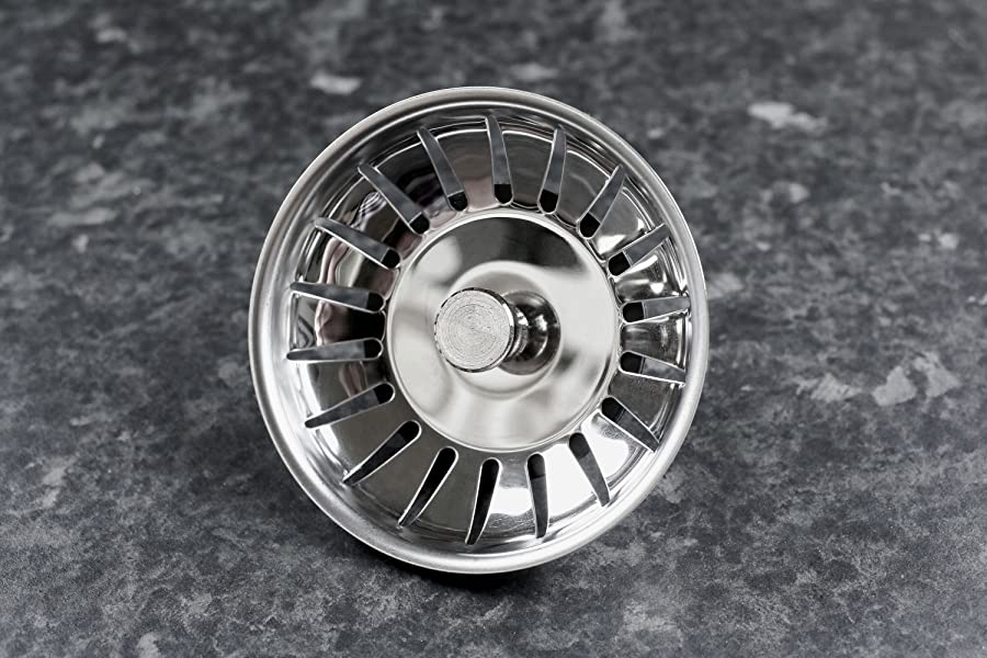 Andrew James Stainless Steel Sink Strainer Stopper Waste
