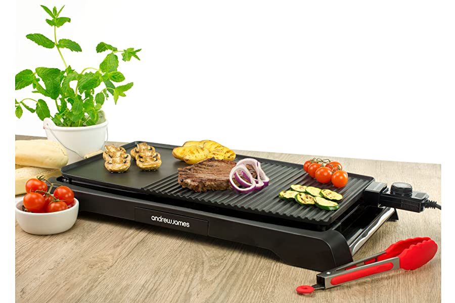 Andrew James Electric Grill Large Teppanyaki Style Bbq
