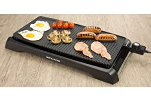 Andrew James Electric Teppanyaki Table Top Grill and Griddle Plate ...