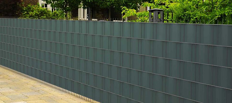 Jarolift Pvc Sichtschutzstreifen 19 Cm X 40 M Mit 25x Befestigungsclipse Sichtschutz Grun