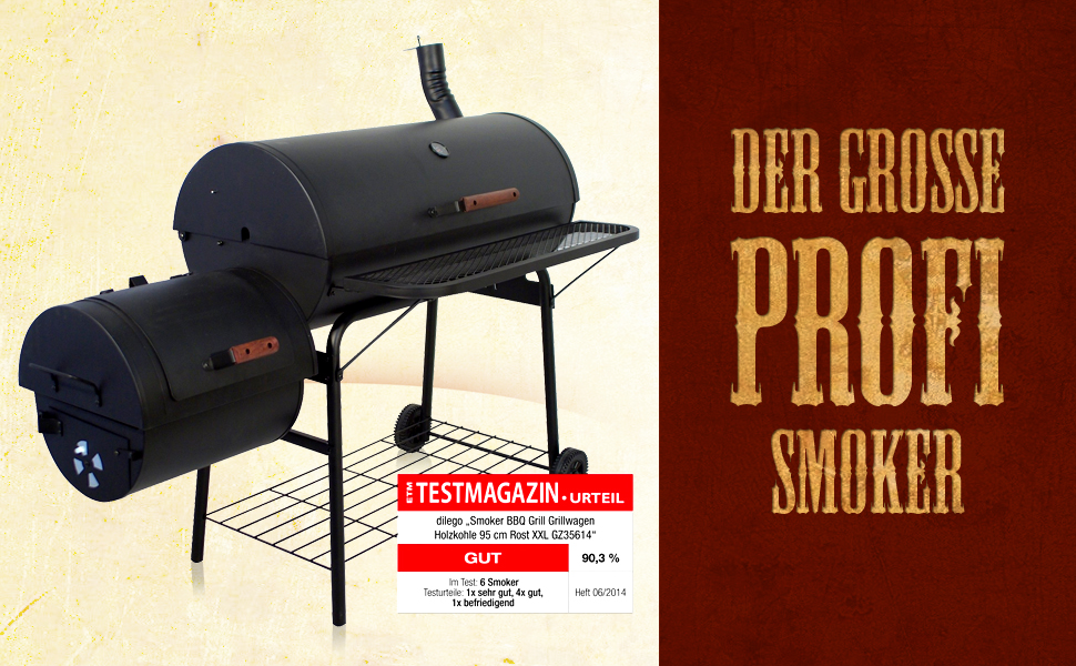 Tepro Grill Smoker Holzkohlegrill Milwaukee Test : Nexos bbq grill smoker grillwagen holzkohlegrill 2 kammern barbecue