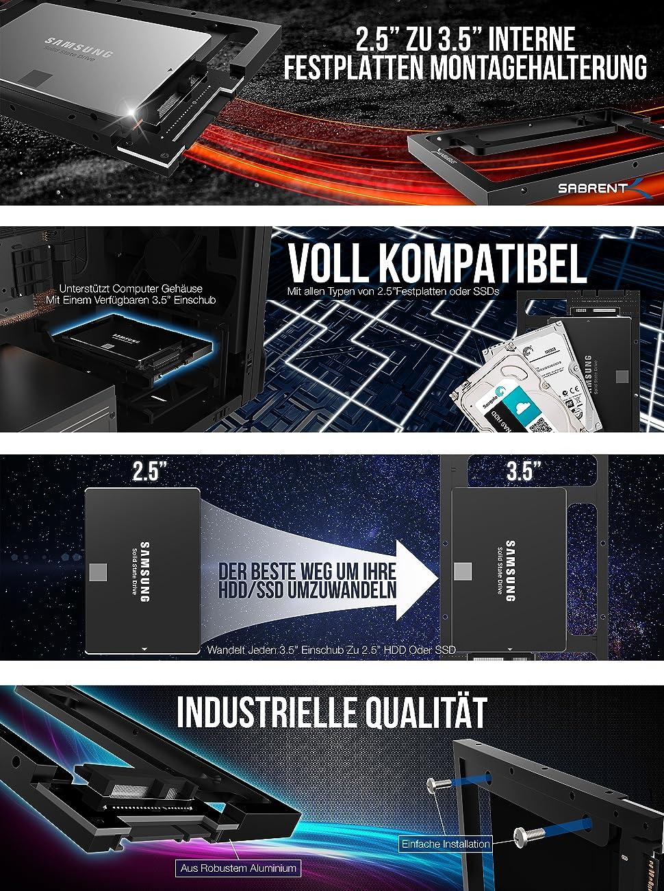 """Sabrent Festplatten - Zubehör Rahmen 2.5"""": Amazon.de: Computer & Zubehör"""