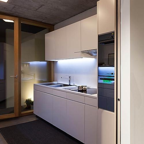 SEBSON LED Unterbauleuchte warmweiß 90cm, LED Leiste 15W, 975lm, LED ...