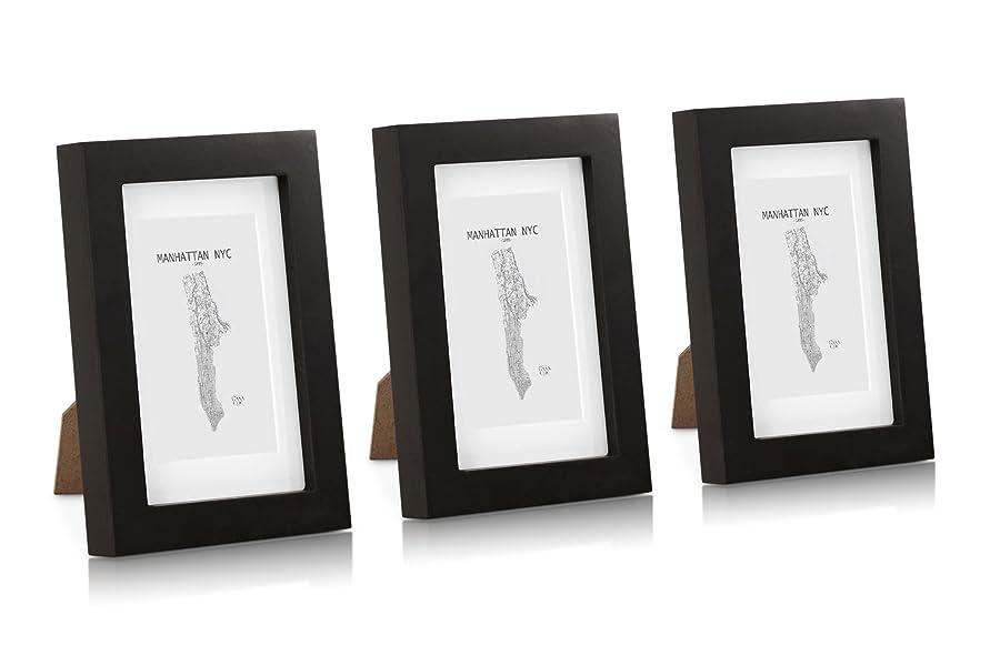 Amazon.de: Classic by Casa Chic Echtholz Bilderrahmen 10x15 cm mit ...