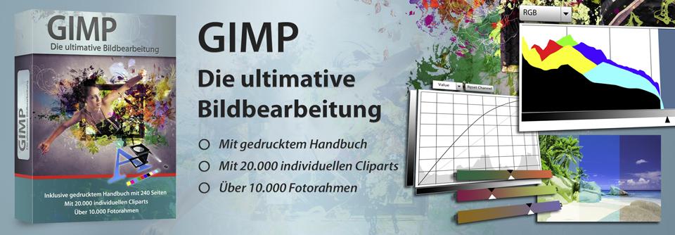 gimp software paket inkl cliparts und gedrucktem handbuch von markt technik die. Black Bedroom Furniture Sets. Home Design Ideas