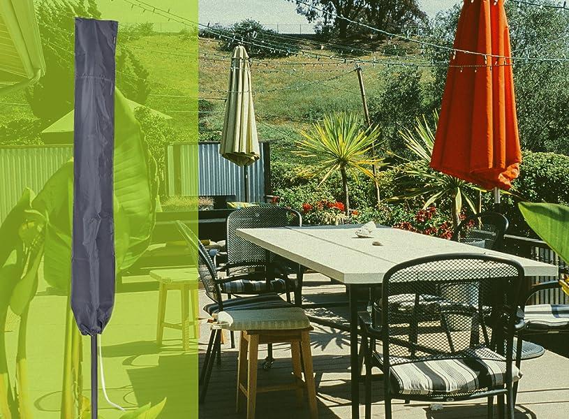 purovi premium sonnenschirm abdeckung mit stab reisverschlu schirm schutzh lle aus. Black Bedroom Furniture Sets. Home Design Ideas