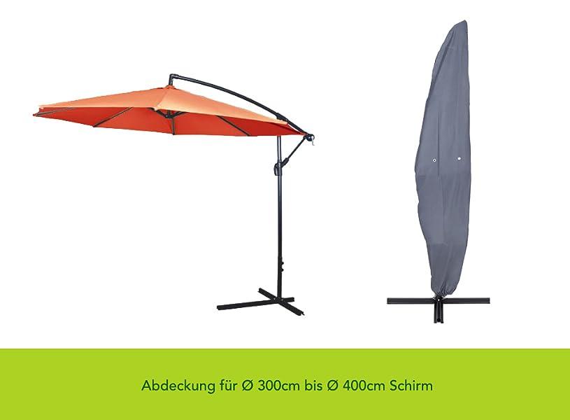 purovi premium ampelschirm abdeckung f r 300cm bis 400cm schirm sonnenschirm. Black Bedroom Furniture Sets. Home Design Ideas