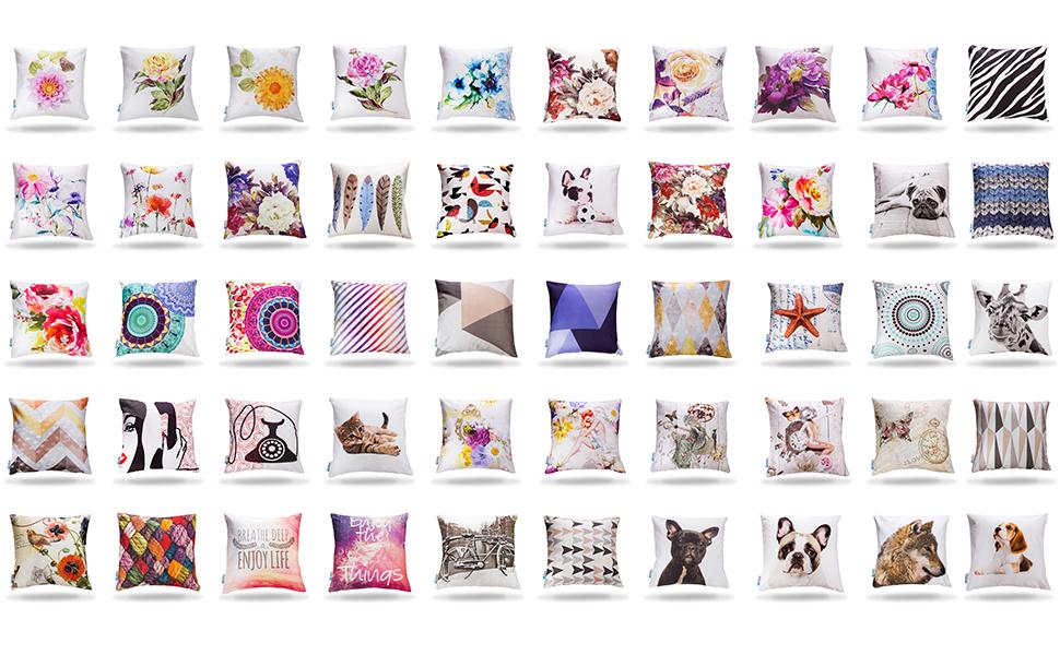 et rea deko kissen kissenbezug kissenh lle dekokissen 100 baumwolle retro kreise t rkis. Black Bedroom Furniture Sets. Home Design Ideas