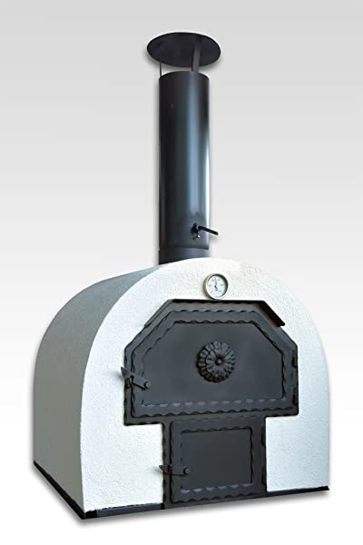 steinbackofen f r den garten 62x62cm doppelkammer schamottstein ged mmter gartenbackofen. Black Bedroom Furniture Sets. Home Design Ideas