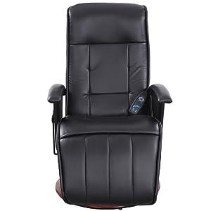 massagesessel fernsehsessel relaxsessel mit heizung und steuereinheit schwarz. Black Bedroom Furniture Sets. Home Design Ideas