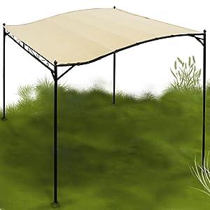 miadomodo garten pavillon in beige partyzelt aus stahl in der gr e 3 x 2 5 m. Black Bedroom Furniture Sets. Home Design Ideas