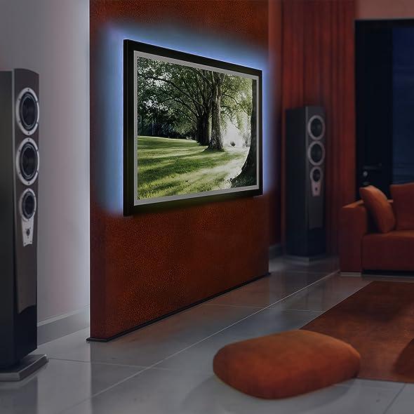 tv hintergrundbeleuchtung led streifen beleuchtung f r modelle 24 42 zoll in 16 verschiedenen. Black Bedroom Furniture Sets. Home Design Ideas