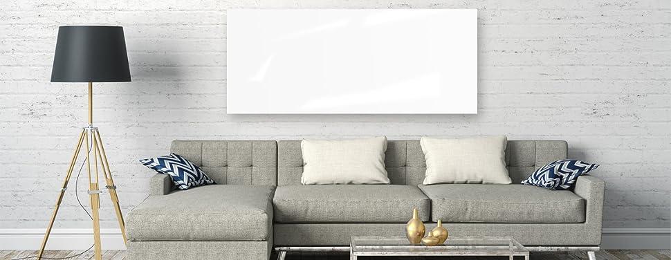 vasner zipris gr glas infrarotheizung 900 watt rahmenlos wei bad geeignet ipx4 extraflaches. Black Bedroom Furniture Sets. Home Design Ideas