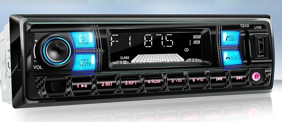 xomax xm rsu255bt autoradio mit bluetooth freisprecheinrichtung i rds fm radio tuner i usb sd. Black Bedroom Furniture Sets. Home Design Ideas