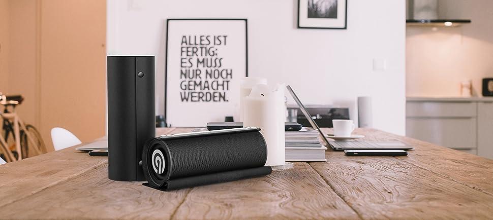 Ninetec Impulse 20 Watt Bluetooth Nfc Aux Speaker Amazon De Elektronik