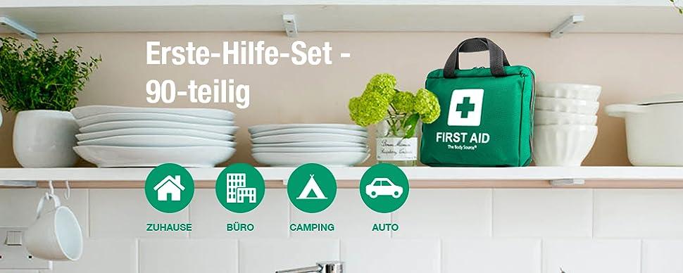 Erste Hilfe Koffer Für Zuhause erste hilfe set mit kühlakkus augenspülung und rettungsdecke 90