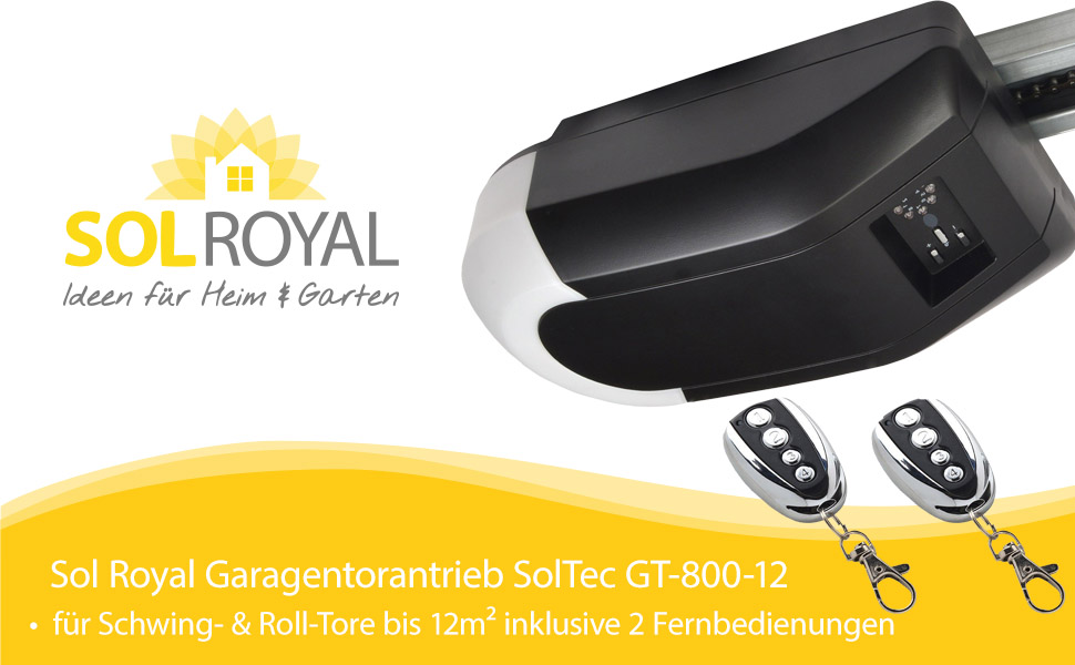 sol royal garagentorantrieb soltec gt 800 12 f r schwing roll tore bis 12m 2. Black Bedroom Furniture Sets. Home Design Ideas