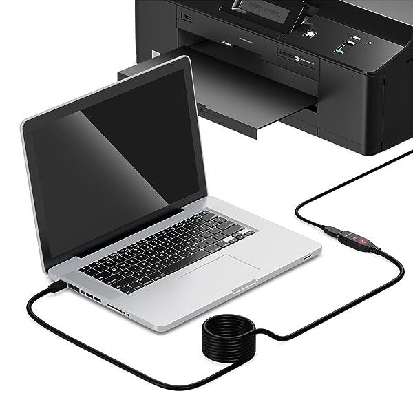 deleyCON USB 3.0 Verlängerungkabel aktiv mit Signalverstärker