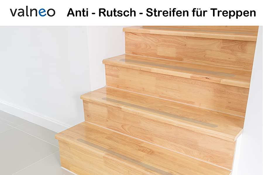 valneo 17 anti rutsch streifen f r treppen transparent. Black Bedroom Furniture Sets. Home Design Ideas