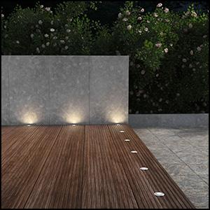 parlat led boden einbauleuchte atria f r au en warm wei je 14lm ip65 40mm 5er set. Black Bedroom Furniture Sets. Home Design Ideas