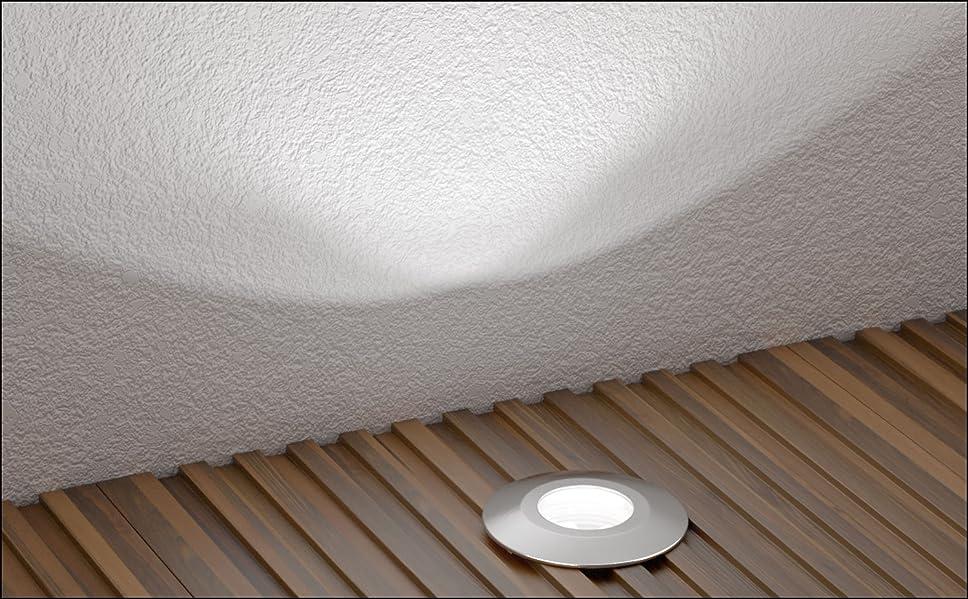 je 14lm LED Boden-Einbauleuchte Atria für außen Aluminium warm-weiß 40mm IP65