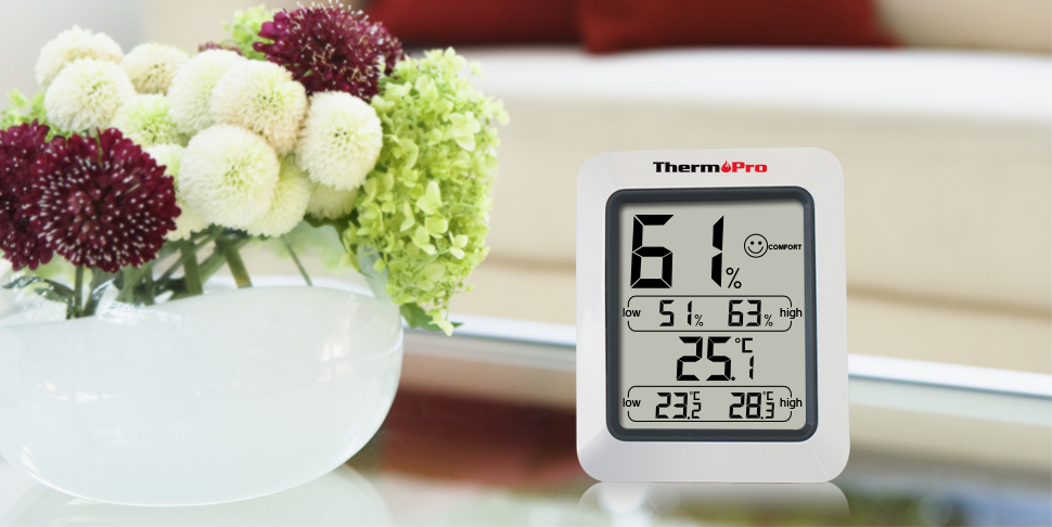 thermopro tp50 digitales thermo hygrometer raumklimakontrolle u luft berwachung ebay. Black Bedroom Furniture Sets. Home Design Ideas