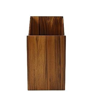 naturehome papierkorb holz 20 x 30 x 35 cm aus nussbaumholz natur ge lt papiereimer serie. Black Bedroom Furniture Sets. Home Design Ideas