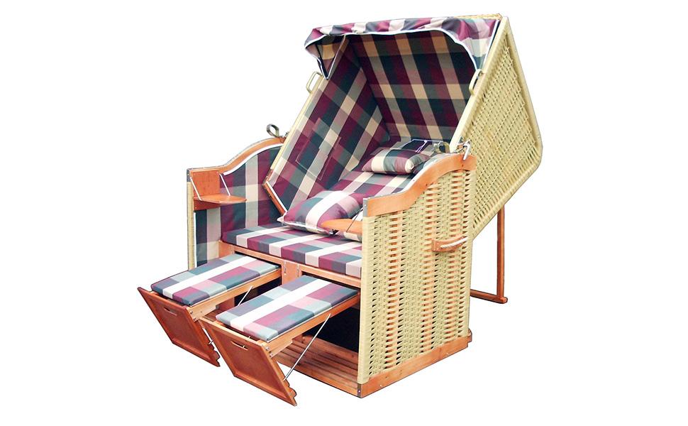 xinro xy 58 terrassen strandkorb rot gr n karo inkl deluxe strandkorb. Black Bedroom Furniture Sets. Home Design Ideas