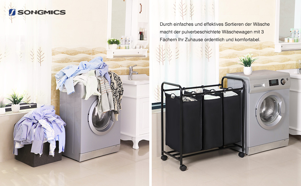 w schekorb w schesortierer 117l kapazit t w schesammler. Black Bedroom Furniture Sets. Home Design Ideas