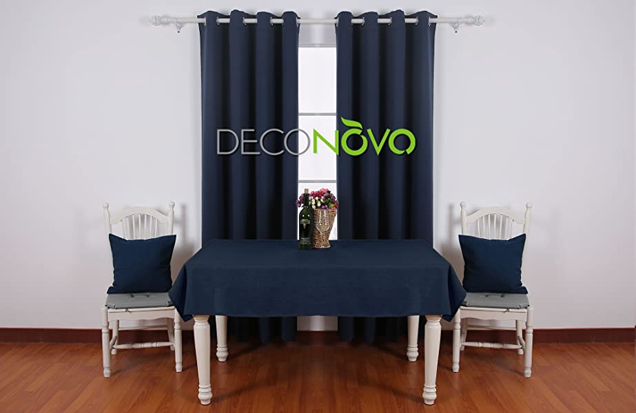 deconovo verdunkelungsvorhang sen gardinen schlafzimmer senvorhang blickdicht. Black Bedroom Furniture Sets. Home Design Ideas