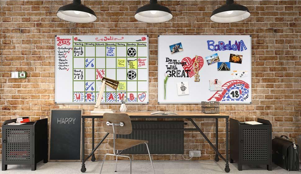 mob whiteboard economy testnote 1 5 schutzlackierte magnettafel im stabilen alurahmen. Black Bedroom Furniture Sets. Home Design Ideas