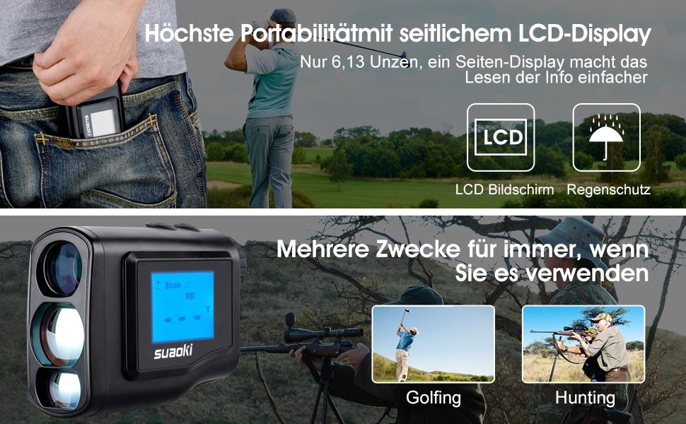 Entfernungsmesser Jagd Beleuchtet : Suaoki 600m golf entfernungsmesser laser: amazon.de: elektronik