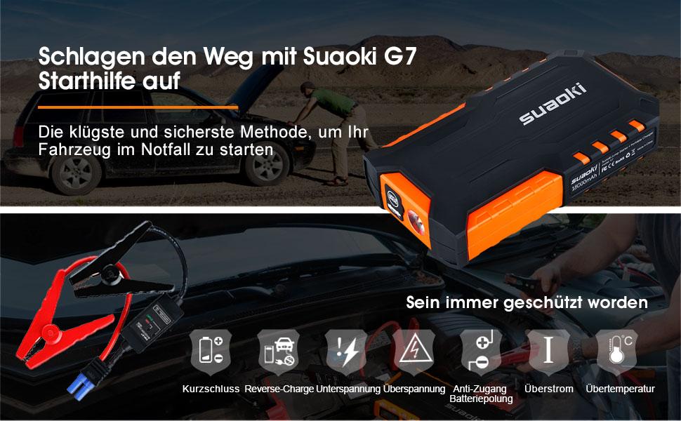suaoki g7 auto starthilfe 600 a spitzenstrom 18000mah auto batterie ladeger t ebay. Black Bedroom Furniture Sets. Home Design Ideas