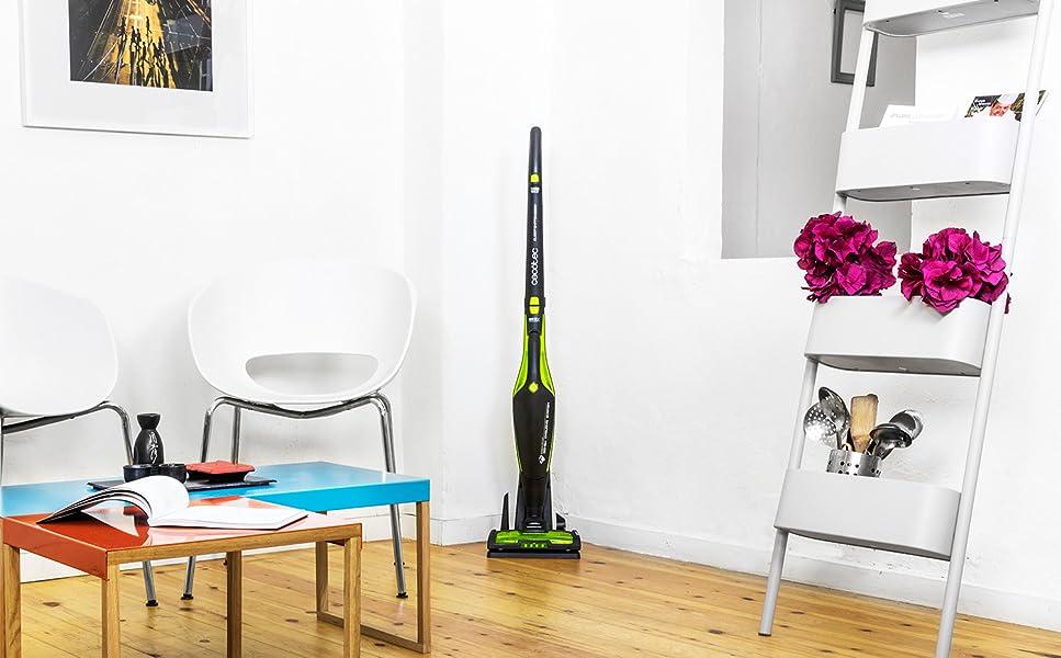 Aspirador escoba 3 en 1 Conga Duo Stick Power 25,9 V sin cables ni bolsas. Aspirador vertical, aspirador de mano y aspirador escoba.