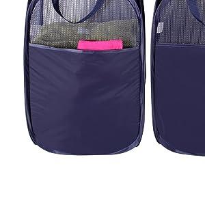 Bolsillo lateral – Proporciona un espacio de almacenamiento adicional para los accesorios de la colada como: detergentes, quitamanchas o prendas delicadas, ...