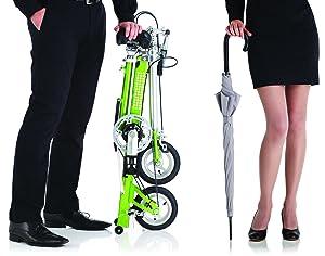 CarryMe establece un nuevo punto de referencia en su categoría. Es una bicicleta de sorprendentes prestaciones de funcionamiento y plegado.