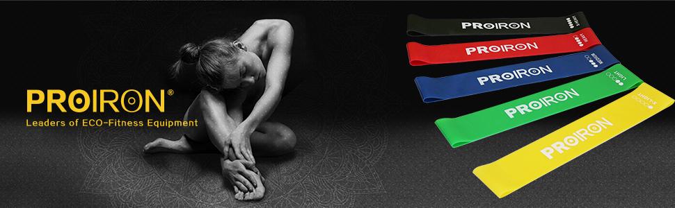 PROIRON Bandas de resistencia bandas de ejercicios Movilidad de estiramiento Culturismo para yoga pilates entrenamiento de la fuerza(paquete de 5)