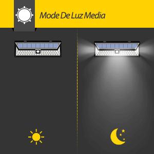 54 leds l mparas solares mpow de foco solares led 800lm - Focos solares amazon ...