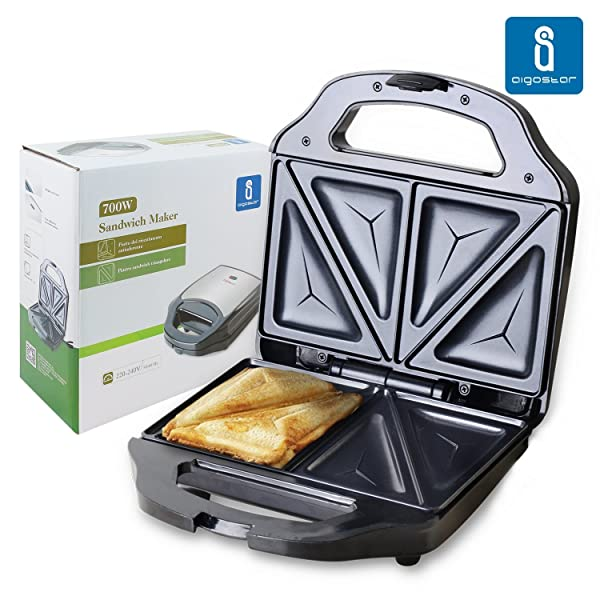 Aigostar cieplo steel 30cex sandwichera de 700 watios en - Como limpiar sandwichera ...