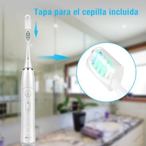 Incluye una tapa que le ayudará a mantener su cepillo limpio y seguro entre cada uso.
