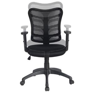 Los controles neumáticos permiten subir y bajar el asiento, inclinar hacia atrás la silla o fijar una posición. Esta silla ajustable de oficina ayuda a ...